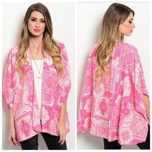 Tops - Miley & Molly pink printed Kimono